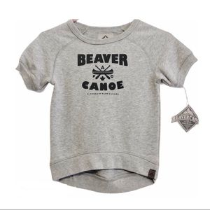 Beaver Canoe Sweatshirt Toddler Medium NWT Gray